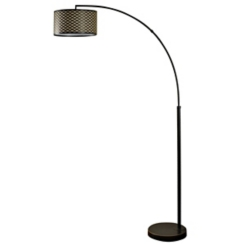 Bronze Metal Madison Arc Floor Lamp