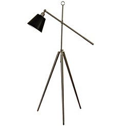 Adjustable Brushed Steel Tripod Floor Lamp