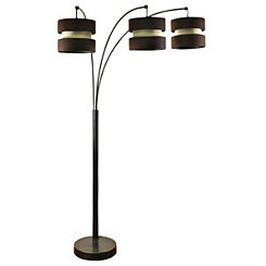 Bronze Triple Arm Arc Floor Lamp