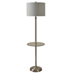 Brushed Steel Table Floor Lamp
