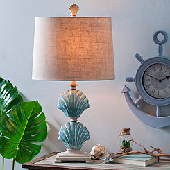 Blue Clam Shell Table Lamp