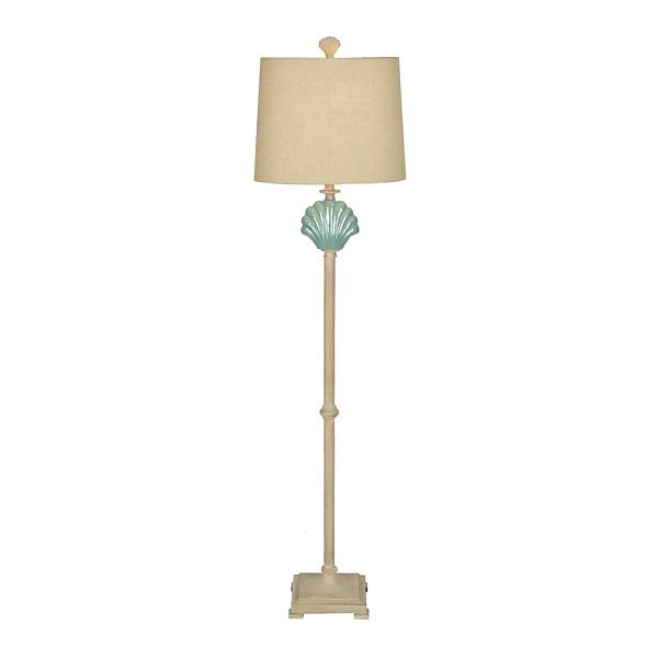 Floor Lamps & Torchiere Floor Lamps | Kirklands:Blue Clam Shell Floor Lamp,Lighting