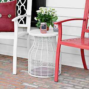 Round Ribbed Side Table