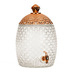 Copper Pineapple Beverage Dispenser