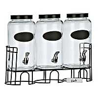 Chalkboard Beverage Dispenser Set