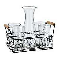 Farmhouse 6-pc. Carafe and Caddy Set