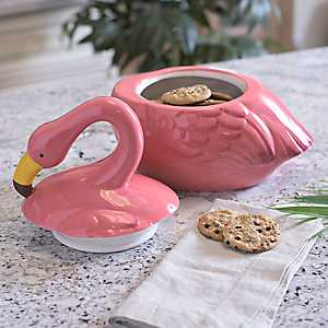 Pink Flamingo Cookie Jar