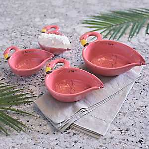 Pink Flamingo Measuring Cups, Set of 4