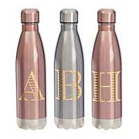 Metallic Monogram Bottles