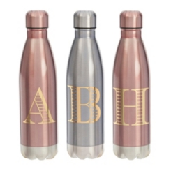Metallic Monogram Bottles