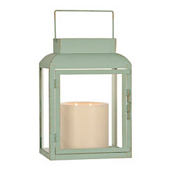 Turquoise Metal Lantern