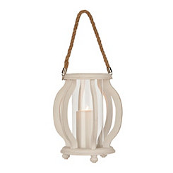 White Cutout Wave Lantern