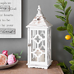White Wood Clover Lantern