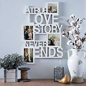 True Love White Collage Frame