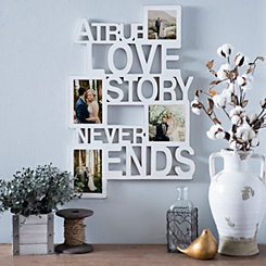 True Love White Collage Frame