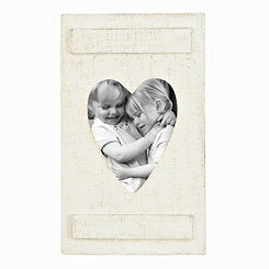 Distressed White Heart Picture Frame, 8x10