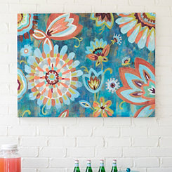 Peacock Pattern Outdoor Canvas Art Print