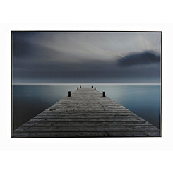 Dock Framed Canvas Art Print