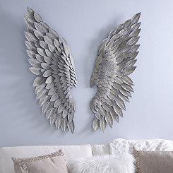 Brushed Gold Angel Wing Plaques
