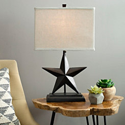 Bronze Rustic Star Table Lamp