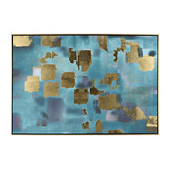 Chaotic Grids Framed Canvas Art Print