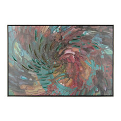 Swirled Mosaic Framed Canvas Art Print
