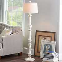 Hadley Cream Spindle Floor Lamp