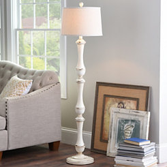 Hadley Cream Spindle Floor Lamp