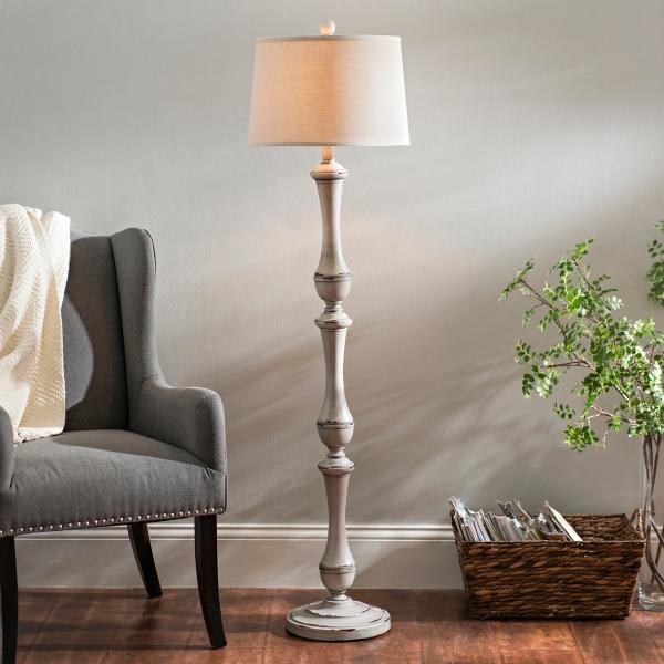 hadley gray floor lamp