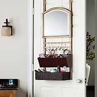 Bronze Over-the-Door Mirror Organizer