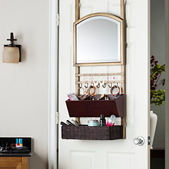 Bronze Over-the-Door Mirror Organizer