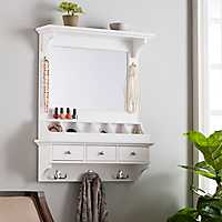 White Over-the-Door Mirror Organizer