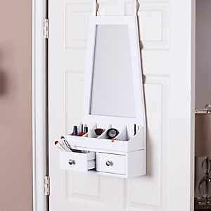 Tapered Over-the-Door Mirror Organizer