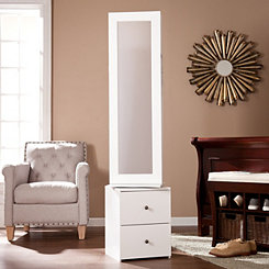 Swiveling Mirror Jewelry Armoire