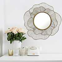 Gold Floral Stella Wall Mirror