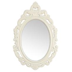 White Baroque Wall Mirror