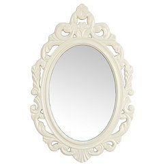 White Baroque Wall Mirror
