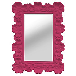 Pink Elegant Ornate Wall Mirror