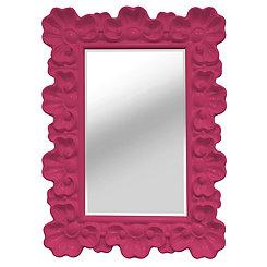 Pink Elegant Ornate Wall Mirror