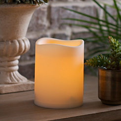 Outdoor LED Pillar Candle, 5 in.