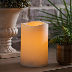 Outdoor LED Pillar Candle, 7 in.