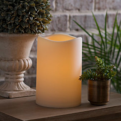Outdoor LED Pillar Candle, 9 in.