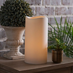 Outdoor LED Pillar Candle, 12 in.