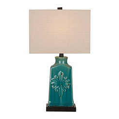 Blue Medallion Ceramic Table Lamp