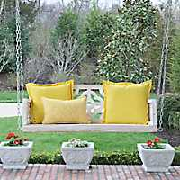 Skylar Ivory Quatrefoil Porch Swing