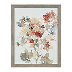 Fall Hydrangeas Framed Art Print