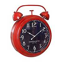 Red and Black Retro Alarm Style Wall Clock