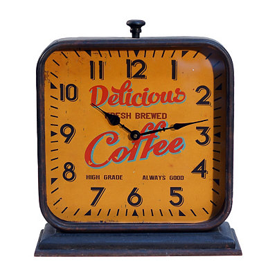 Delicious Coffee Vintage Table Clock