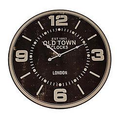 Black Old Town Clocks Wall Clock