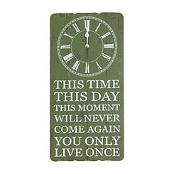This Time This Day Wall Clock